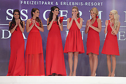 28.02.2015, Europapark Dom, Rust, GER, Miss Germany Wahl 2015, im Bild Dritte von rechts Miss Germany 2015 Olga Hofmann (Miss Pearl.tv 2015) // during the election to Miss Germany 2015 at the Europapark Dom in Rust, Germany on 2015/02/28. EXPA Pictures © 2015, PhotoCredit: EXPA/ Eibner-Pressefoto/ BW-Foto<br /> <br /> *****ATTENTION - OUT of GER*****