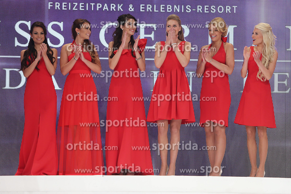 28.02.2015, Europapark Dom, Rust, GER, Miss Germany Wahl 2015, im Bild Dritte von rechts Miss Germany 2015 Olga Hofmann (Miss Pearl.tv 2015) // during the election to Miss Germany 2015 at the Europapark Dom in Rust, Germany on 2015/02/28. EXPA Pictures &copy; 2015, PhotoCredit: EXPA/ Eibner-Pressefoto/ BW-Foto<br /> <br /> *****ATTENTION - OUT of GER*****