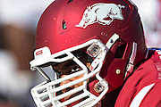 FAYETTEVILLE, AR - OCTOBER 25:  Player of the Arkansas Razorbacks warming up before a game against the UAB Blazers at Razorback Stadium on October 25, 2014 in Fayetteville, Arkansas.  The Razorbacks defeated the Blazers 45-17.   (Photo by Wesley Hitt/Getty Images) *** Local Caption ***