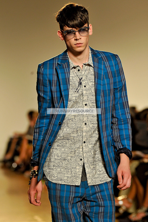 Cole Mohr walks the runway wearing Marc by Marc Jacobs Spring 2010 collection during New York Mercedes-Benz fashion week on September 15, 2009.