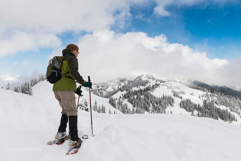 Snowshoeing on Hurricane Ridge, Olympic National Park.
