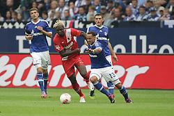 01.09.2012, BayArena, Leverkusen, GER, 1. FBL, Bayer 04 Leverkusen vs FC Augsburg, 2. Runde, im Bild v.l. Roman Neustaedter (FC Schalke 04), Aristide Bance (FC Augsburg), Jermaine Jones (FC Schalke 04), Kyriakos Papadopoulos (FC Schalke 04), Aktion // during the German Bundesliga 2nd round match between Bayer 04 Leverkusen and FC Augsburg at the BayArena, Leverkusen, Germany on 2012/09/01. EXPA Pictures © 2012, PhotoCredit: EXPA/ Eibner/ Oliver Vogler..***** ATTENTION - OUT OF GER *****