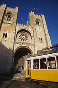 Lisbon tram line 28 passes through Sé Catedral (Lisbon's Old Cathedral) and is the longest line of trams which cross the city.