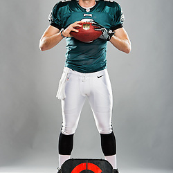 PHILADELPHIA, PA - DECEMBER 20:  Nick Foles #9 of the Philadelphia Eagles poses for portraits at the NovaCare Complex on December 20, 2013 in Philadelphia, Pennsylvania. (Photo by Drew Hallowell/Philadelphia Eagles) *** Local Caption ***