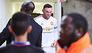 A focussed Wayne Rooney emerges from the tunnel during the Barclays Premier League match between Crystal Palace and Manchester United at Selhurst Park, London, England on 31 October 2015. Photo by Michael Hulf.