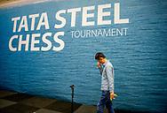 WIJK AAN ZEE - ding liren tijdens de derde ronde van de 81e editie van het Tata Steel Chess Tournament.  copyruyght robin utrecht