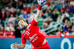 Horvat Zlatko (CRO) during handball match between National teams of Croatia and Czech Republic in 5/6 placement match of Men's EHF EURO 2018, on January 26, 2018 in Arena Zagreb, Zagreb, Croatia. Photo by Vid Ponikvar / Sportida