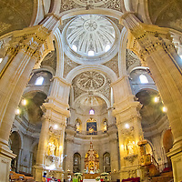 Alberto Carrera, Interior View, Cathedral of Granada, Granada, Andaluc&iacute;a, Spain, Europe<br />