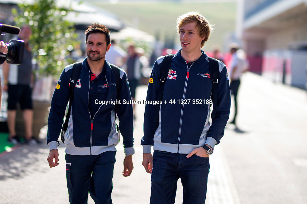 Brendon Hartley (NZL) Scuderia Toro Rosso at Formula One World Championship, Rd17, United States Grand Prix, Preparations, Circuit of the Americas, Austin, Texas, USA, Thursday 19 October 2017. / www.photosport.nz