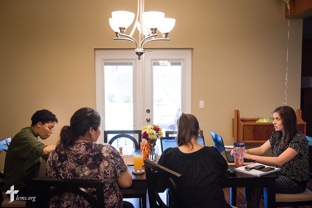 Residents and Resident Director Rachel Woolery (far right) lunch at Redeeming Life Maternity Home  on Thursday, Feb. 12, 2015, in Sanford, Fla. The Christ-centered home of Redeeming Life Outreach Ministries is a safe haven for single women in crisis pregnancy. LCMS Communications/Erik M. Lunsford