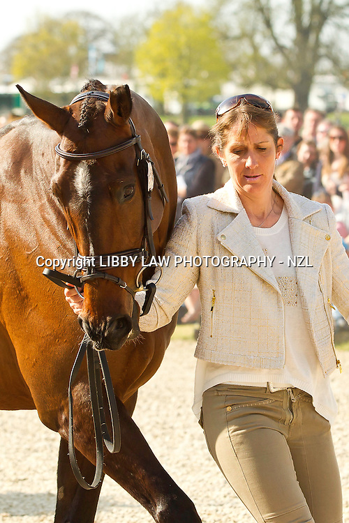 2012 OLYMPIC BRONZE MEDALIST: NZL-Caroline Powell (BOSTON TWO TIP) 1ST HORSE INSPECTION: ACCEPTED - 2013 GBR-Mitsubishi Motors Badminton International Horse Trail CCI4*: CREDIT: Libby Law - COPYRIGHT: LIBBY LAW PHOTOGRAPHY - NZL (Thursday 2 May 2013)