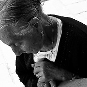 Italy, Basilicata- A 94 years old woman talking about the feast when she was young © 2012 Mama2