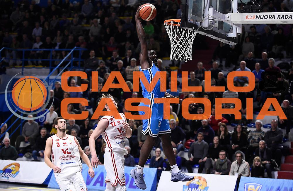 Johnson-Odom Darius<br /> Vanoli Cremona - Victoria Libertas Pesaro<br /> Lega Basket Serie A 2017/2018<br /> Pesaro, 04/03/2018<br /> Foto A.Giberti / Ciamillo - Castoria