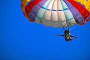 Image of a paraglider in Puerto Vallarta, Mexico, model released