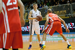 Jaka Brodnik during Slovenian basketball All Stars Grosuplje 2013 event, on December 29, 2013 in Arena Brinje, Grosuplje, Slovenia. (Photo By Urban Urbanc / Sportida.com)