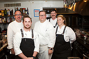 New York, NY - November 4, 2017: Chef Justin Dain of PINE Restaurant at the Hanover Inn Dartmouth presents a New Hampshire Cornucopia at the James Beard House.<br /> <br /> <br /> CREDIT: Clay Williams for The James Beard Foundation.<br /> <br /> &copy; Clay Williams / claywilliamsphoto.com