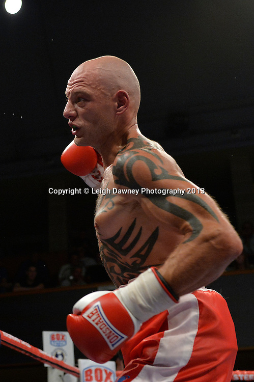 Craig Willshee defeats Kieron Gray (pictured) in a Super-Middleweight contest at Wolverhampton Civic Hall, Wolverhampton, 1st August 2014. Frank Warren in association with PJ Promotions.  © Credit: Leigh Dawney Photography.