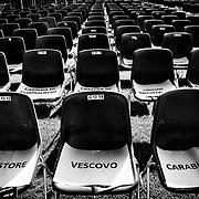 Places réservés pour la cérémonie d'ouverture des Jeux Nationaux Special Olympics 2017 d'Italie, pour handicappés mentaux