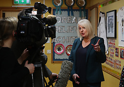 Headteacher at Dunblane Primary school Lorraine Slabbert speaks to the media in Andy Murray's home town of Dunblane, he has said he is aiming to end his career after Wimbledon but the Australian Open may be his last tournament.