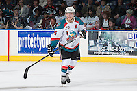 KELOWNA, CANADA - APRIL 19: Tyson Baillie #24 of the Kelowna Rockets skates against the Portland Winterhawks on April 18, 2014 during Game 2 of the third round of WHL Playoffs at Prospera Place in Kelowna, British Columbia, Canada.   (Photo by Marissa Baecker/Shoot the Breeze)  *** Local Caption *** Tyson Baillie;