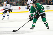 DALLAS, TX - OCTOBER 17:  Ray Whitney #13 of the Dallas Stars controls the puck against the San Jose Sharks on October 17, 2013 at the American Airlines Center in Dallas, Texas.  (Photo by Cooper Neill/Getty Images) *** Local Caption *** Ray Whitney