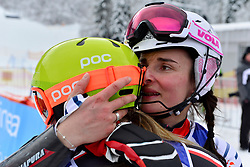 BOCHET Marie, LW6/8-2, FRA, TURGEON Frederique, LW2, CAN, Women's Slalom at the WPAS_2019 Alpine Skiing World Championships, Kranjska Gora, Slovenia