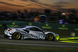 March 14, 2019 - Sebring, Etats Unis - 63 SCUDERIA CORSA (ITA) FERRARI 488 GT3 GTD COOPER MACNEIL (USA) TONI VILANDER (FIN) JEFF WESTPHAL  (Credit Image: © Panoramic via ZUMA Press)