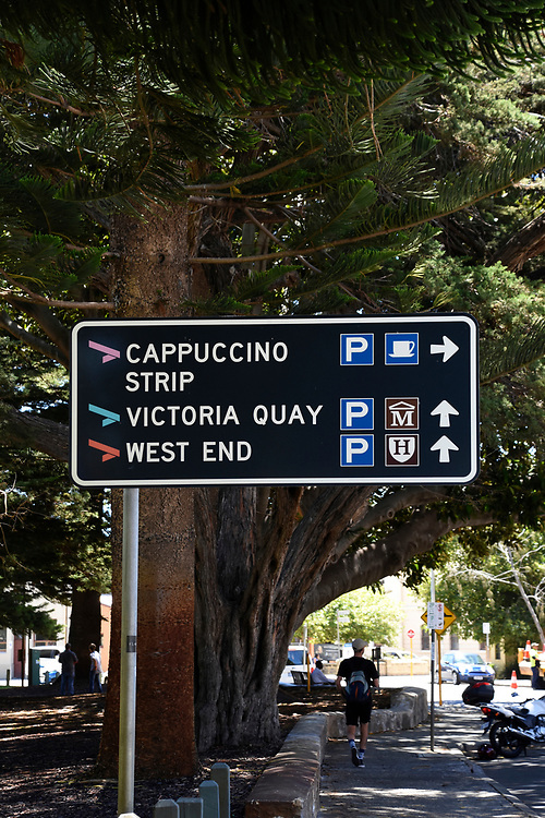 Signs for Cappuccino Strip in Freemantle