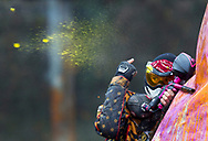 October 28, 2011 -  Brendan Morrissey signals to the referee during a match at the NEIC paintball tournament at Headrush Action Sports Park in Syracuse, NY. The RIT paintball team placed fourth out of ten teams at the SUNY open #2 tournament.