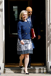 © Licensed to London News Pictures. 18/07/2017. London, UK. Chief Secretary to the Treasury LIZ TRUSS leaves after a cabinet meeting in Downing Street, London on Tuesday, 18 July 2017. Photo credit: Tolga Akmen/LNP