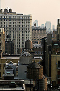 New York. elevated view. on Midtown skyline and roofs. New york -  /  Midtown vue panoramique sur les toits et les reservoirs New york