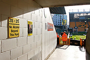 A stadium shot through one of the fans access tunnels with a no alcohol sign in the foreground before the EFL Sky Bet Championship match between Norwich City and Ipswich Town at Carrow Road, Norwich, England on 18 February 2018. Picture by Nigel Cole.