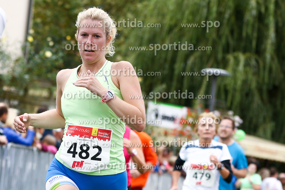 Sabina Mrzek Udovic competes during 3. Konjiski maraton / 3rd Marathon of Slovenske Konjice, on September 27, 2015 in Slovenske Konjice, Slovenia. Photo by Urban Urbanc / Sportida
