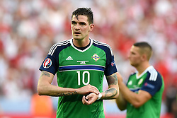 Kyle Lafferty of Northern Ireland cuts a dejected figure on the final whistle  - Mandatory by-line: Joe Meredith/JMP - 12/06/2016 - FOOTBALL - Stade de Nice - Nice, France - Poland v Northern Ireland - UEFA European Championship Group C