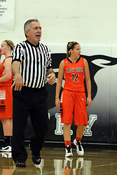 20 November 2015: Count the points, Rich Caccatori. Normal Community Lady Ironmen v Bloomington Central Catholic Lady Saints at Girls Intercity in the gym at Normal Community West in Normal IL