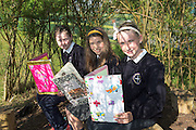 Tara Forde, Clodagh Leich, Amy Naughton pupils from Northampton National school  Co. Galway  whom will be presented with medals for their prize-winning original story at this year&rsquo;s Write a Book / Scr&iacute;obh Leabhair competition, run by Galway Education Centre, in the Radisson Hotel on Thursday 30th April. <br />  Photo: Andrews Downes XPOSURE