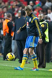 15.11.2013, Estadio da Luz, Lissabon, POR, FIFA WM Qualifikation, Portugal vs Schweden, Play Off, im Bild Sverige 13 Mikael Antonsson // during the FIFA World Cup Qualifier play Off Match between Portugal and Sweden at the Estadio da Luz in Lissabon, Portugal on 2013/11/15. EXPA Pictures © 2013, PhotoCredit: EXPA/ Pic Agency/ Sami Grahn<br /> <br /> *****ATTENTION - OUT of SWE*****