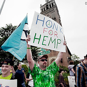 A march through the Plaza for the legalization of cannabis products