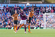 Markus Henriksen of Hull City and Henri Lansbury of Aston Villa clash during the Sky Bet Championship match at Villa Park, Birmingham<br /> Picture by Matt Wilkinson/Focus Images Ltd 07814 960751<br /> 05/08/2017
