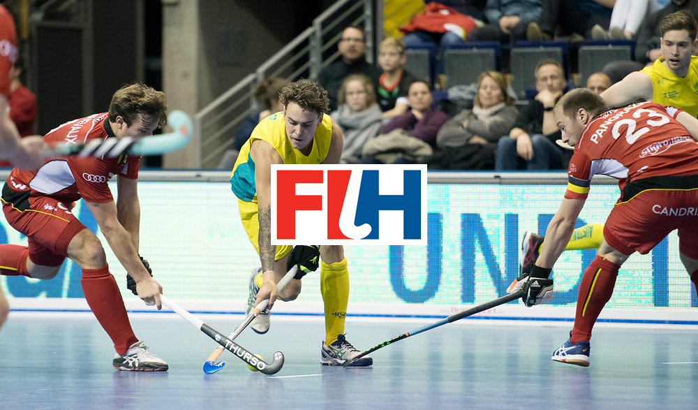 BERLIN - Indoor Hockey World Cup<br /> Quarterfinal 4: Australia - Belgium<br /> foto: Jack Hayes.<br /> WORLDSPORTPICS COPYRIGHT FRANK UIJLENBROEK