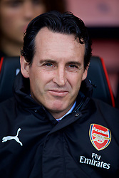 BOURNEMOUTH, ENGLAND - Sunday, November 25, 2018: Arsenal's manager Unai Emery before the FA Premier League match between AFC Bournemouth and Arsenal FC at the Vitality Stadium. (Pic by David Rawcliffe/Propaganda)