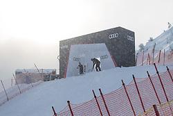 17.01.2017, Hahnenkamm, Kitzbühel, AUT, FIS Weltcup Ski Alpin, Kitzbuehel, Abfahrt, Herren, Streckenbesichtigung, im Bild SuperG Start // SuperG Start during the course inspection for the men's downhill of FIS Ski Alpine World Cup at the Hahnenkamm in Kitzbühel, Austria on 2017/01/17. EXPA Pictures © 2017, PhotoCredit: EXPA/ Johann Groder