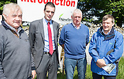 Richard HARTNETT Castleisland  Kerry with newly elected IFA President Joe Healy Joe Healy<br /> John O Connor  and Paul Hennessy both from Kildalton agricultural college at the Newford Herd Open Day at Teagasc Athenry, Mellows Campus.  Photo:Andrew Downes, xposure.