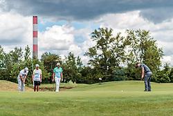 10.06.2017, Diamond Country Club, Atzenbrugg, AUT, PGA European Tour, Lyoness Open, im Bild Zander Lombard (RSA), Johan Carlsson (SWE), David Horsey (ENG) // Zander Lombard of South Africa, Johan Carlsson of Sweden, David Horsey of England // during the Golf PGA European Tour, Lyoness Open Tournament at the Diamond Country Club in Atzenbrugg, Austria on 2017/06/10. EXPA Pictures © 2017, PhotoCredit: EXPA/ JFK