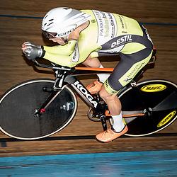 28-12-2015: Wielrennen: NK Baan: Alkmaar   <br />ALKMAAR (NED) baanwielrennen<br />Op de wielerbaan van Alkmaar streden de wielrenners om de nationale baantitels  <br />Wim Stroetinga (Nijkerk) onderweg naar de titel op de achtervolging