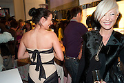 RACHEL ANTHONY WEARING AN EMMA GRIFFITHS DRESS, ; EMMA GRIFFITHS, Wolf & Badger - pop-up store launch party. Wonder Room, Selfridges, 13 August 2010. -DO NOT ARCHIVE-© Copyright Photograph by Dafydd Jones. 248 Clapham Rd. London SW9 0PZ. Tel 0207 820 0771. www.dafjones.com.