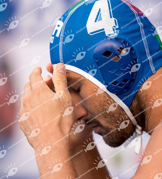 4 FIGLIOLI Pietro ITA<br /> Serbia SRB (white) - Italy ITA (blue)<br /> day 02 - 24/06/2015<br /> FINA Water Polo World League Superfinal Men<br /> Bergamo (ITA) 23-28 June 2015<br /> Photo G.Scala/Deepbluemedia