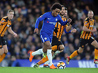 Football - 2017 / 2018 FA Cup - Fifth Round: Chelsea vs. Hull City<br /> <br /> Willian of Chelsea moves through to score goal no 3, at Stamford Bridge.<br /> <br /> COLORSPORT/ANDREW COWIE