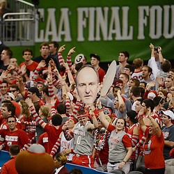 Mar 31, 2012; New Orleans, LA, USA; Ohio State Buckeyes fans hold a sign a head coach Thad Matta during the first half in the semifinals of the 2012 NCAA men's basketball Final Four against the Kansas Jayhawks at the Mercedes-Benz Superdome. Mandatory Credit: Derick E. Hingle-US PRESSWIRE