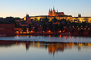 St Vitus Cathedral, Prague Castle, Vltava River, Prague, Czech Republic